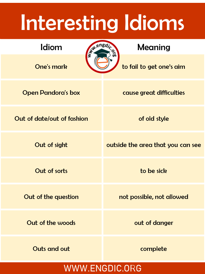 interesting idioms for kids