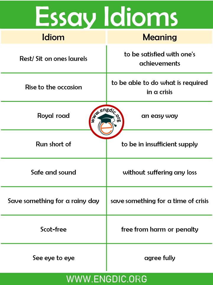 essay Idioms