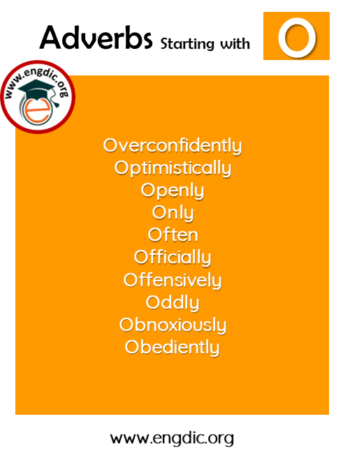 list of adverbs with o