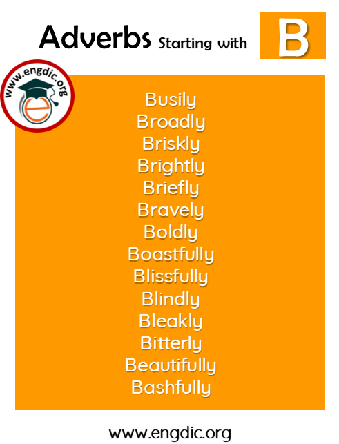 list of adverbs with B