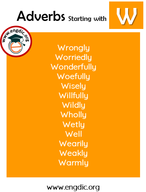 list of adverbs with W