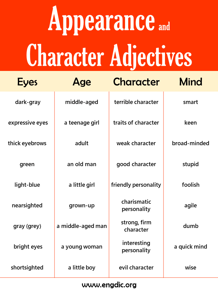 adjectives to describe appearance