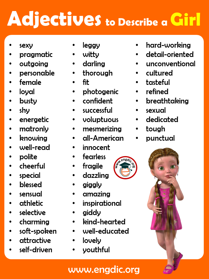 list of adjectives to describe a girl