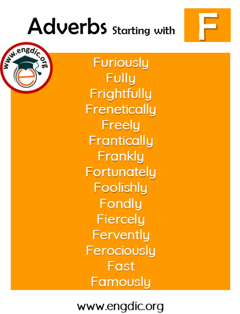 list of adverbs with F