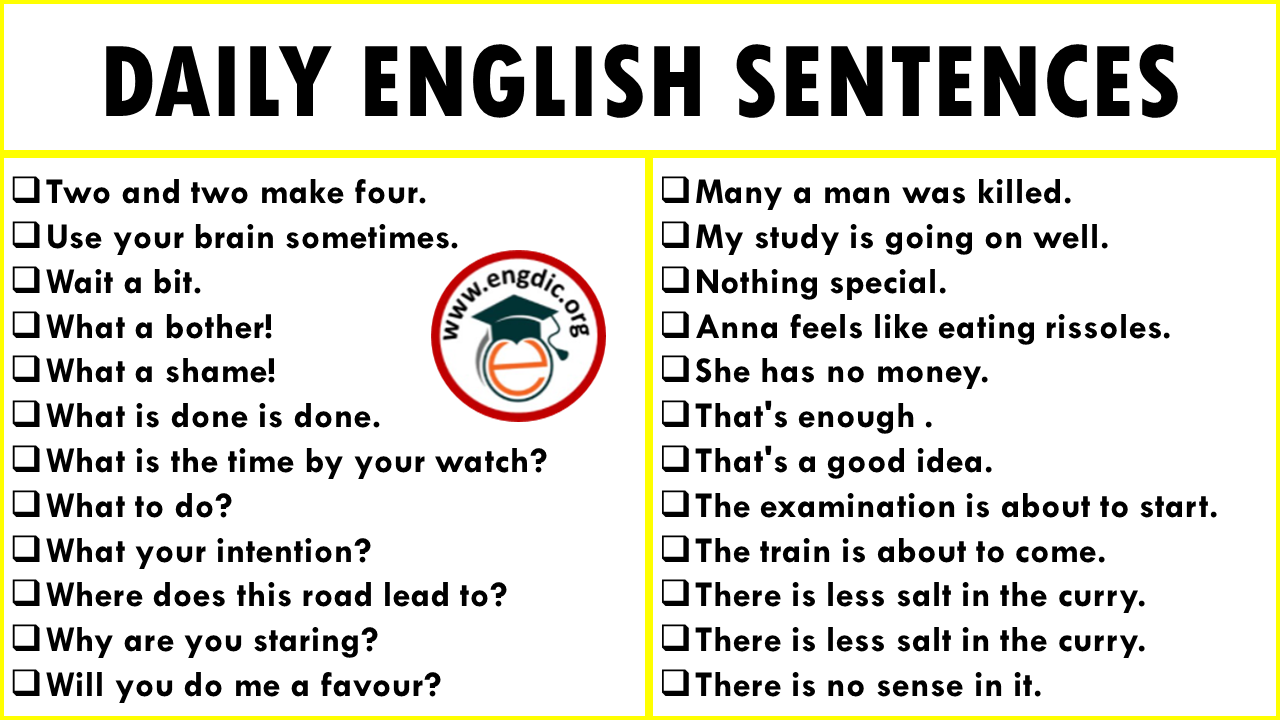 Common English Sentences Used in Daily Life