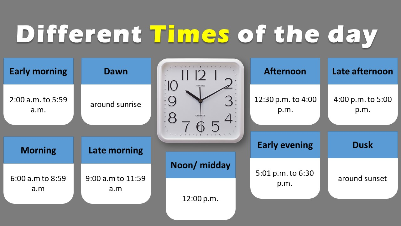 different times of the day