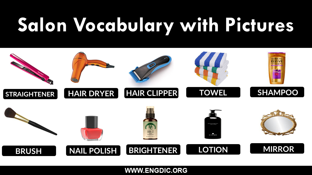 Salon Vocabulary with Pictures