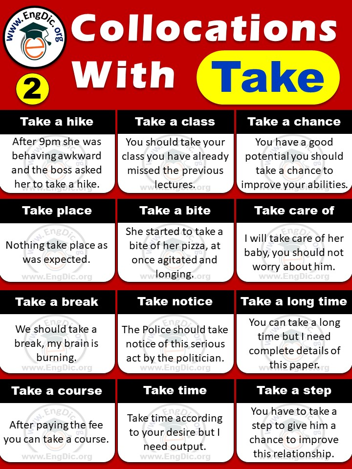 List of collocations with take pdf