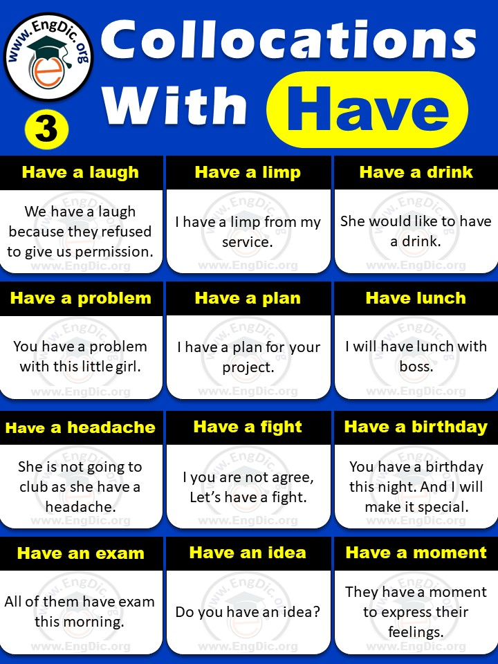 List of have collocations