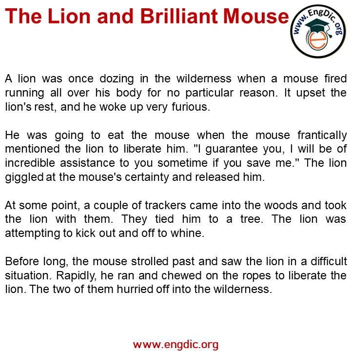lion and brilliant mouse