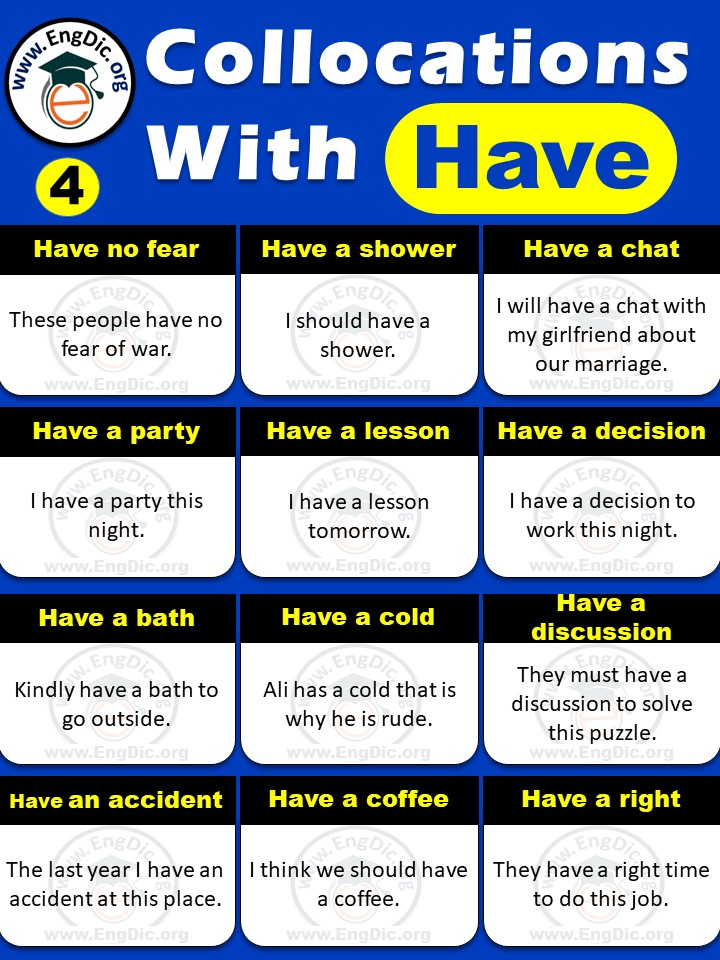 Examples of Collocations with Have  pdf