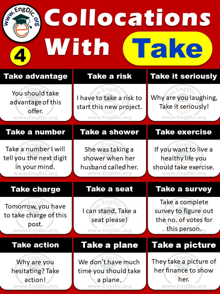 all collocations with take