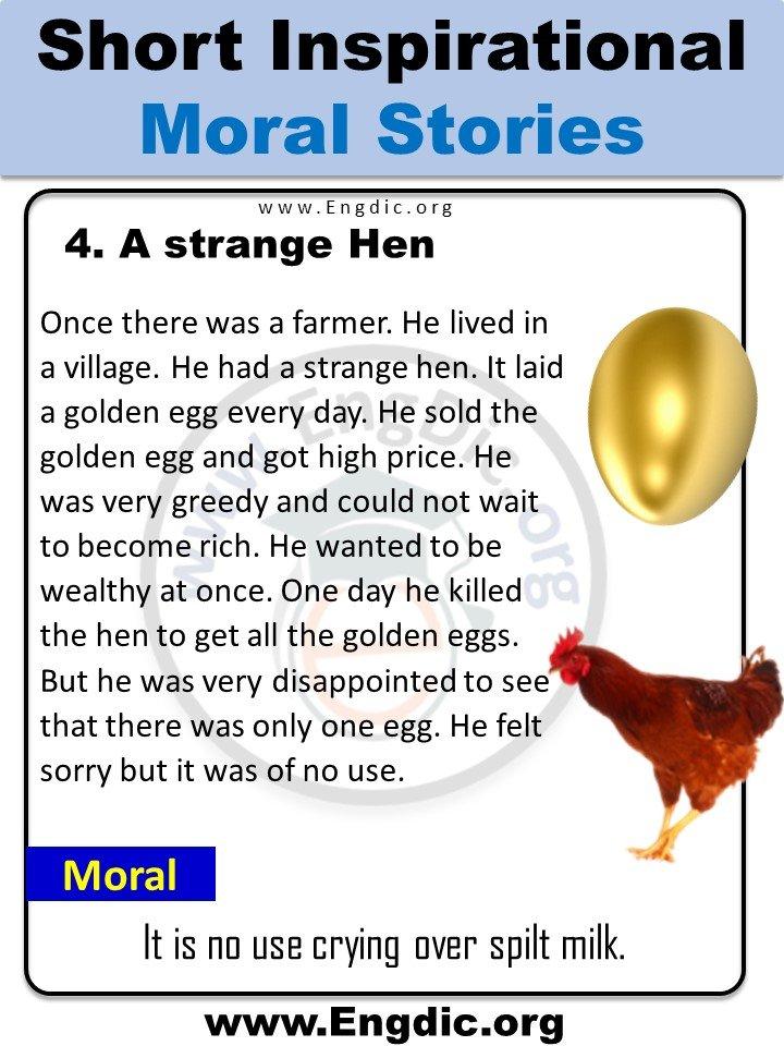 a strange hen story