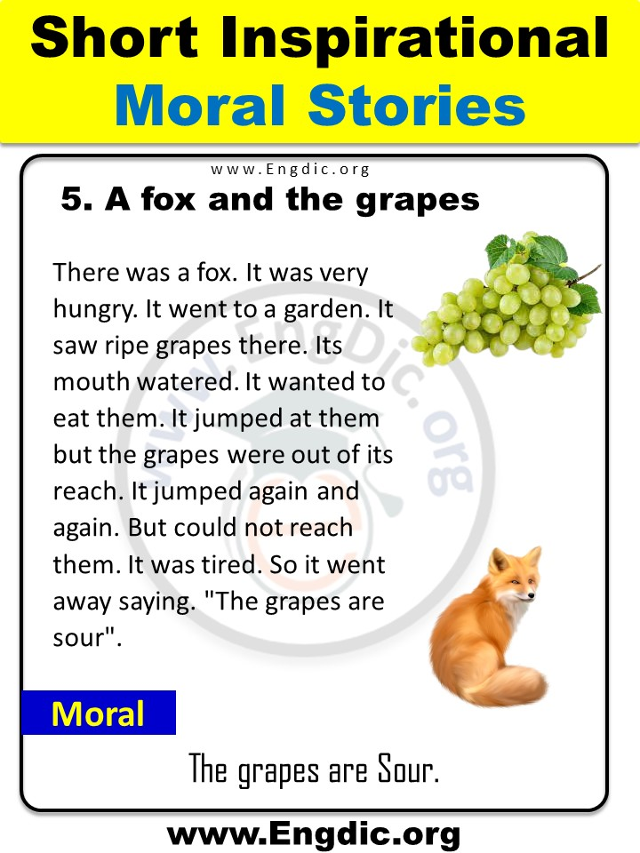 the grapes are sour story in english