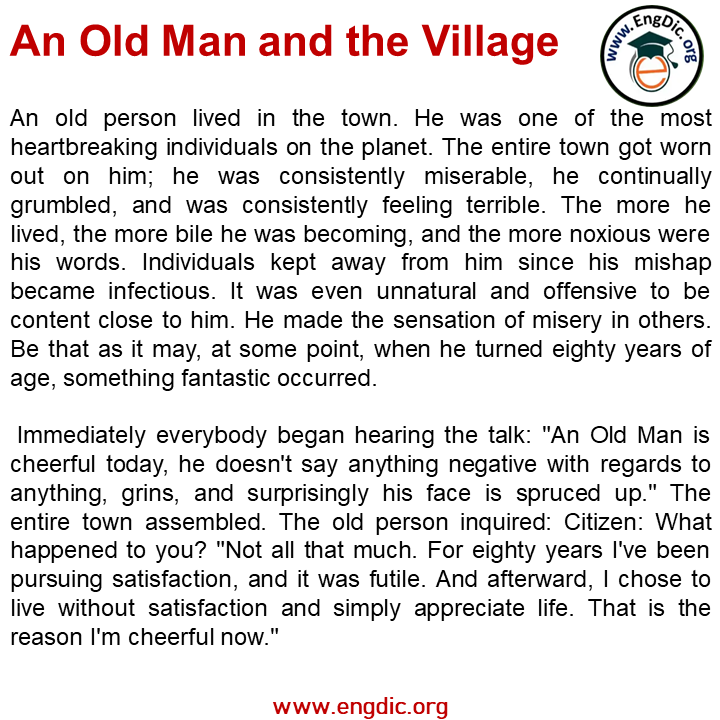 an old man and the village