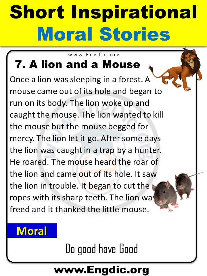 a lion and a mouse story