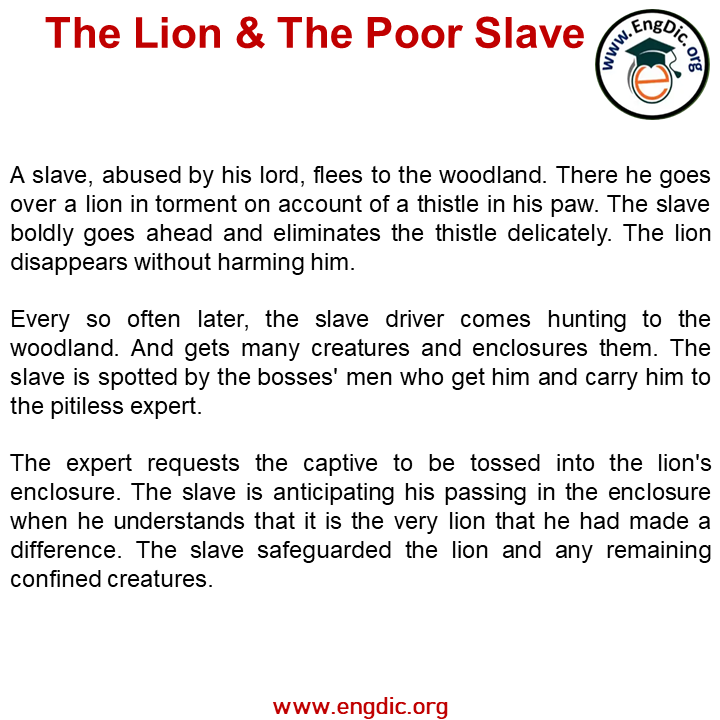 lion and the poor slaves