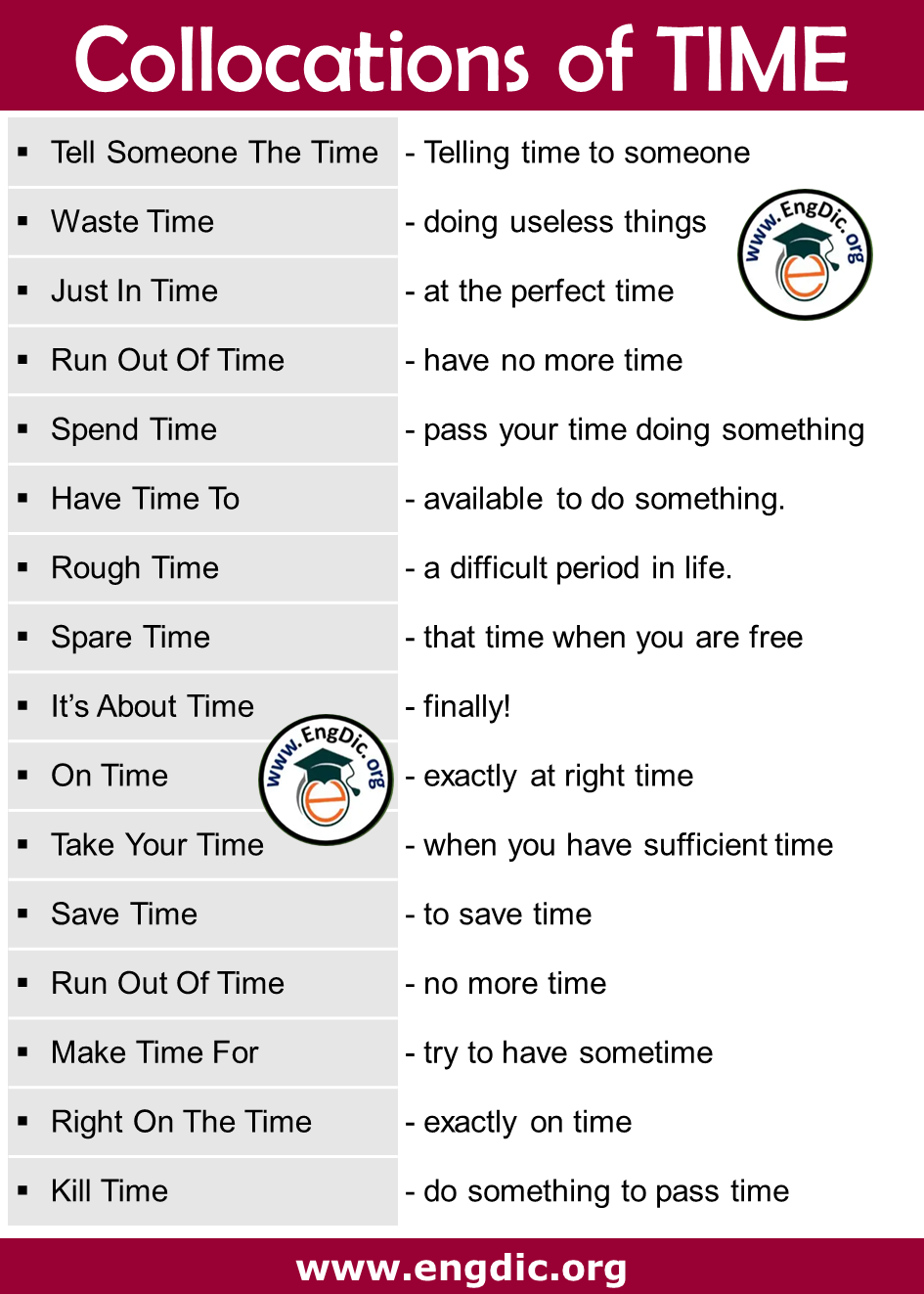 collocations of time with meaning