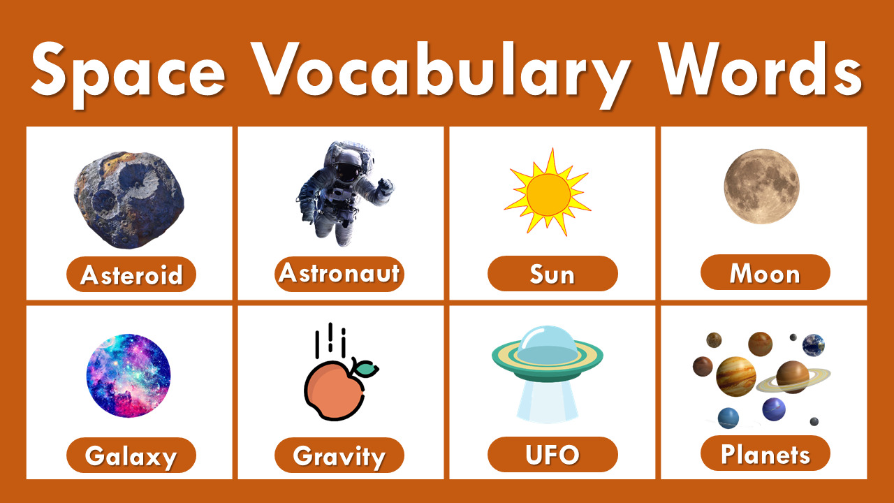 list of space vocabulary words
